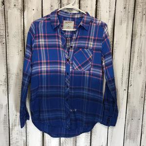 Juniors Arizona Boyfriend Fit Flannel Shirt NWT XS